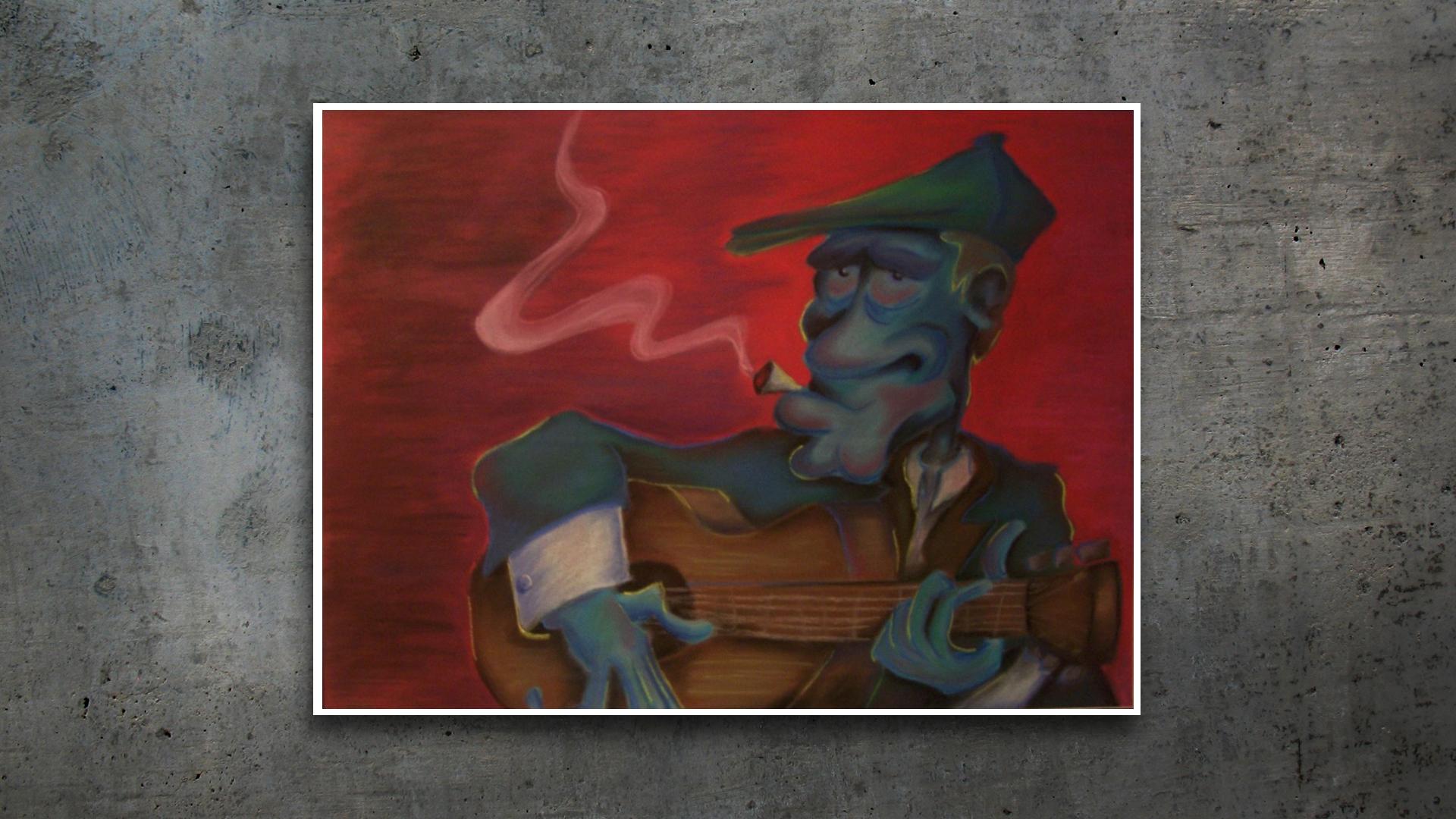 Mixed Media – Blues Man
