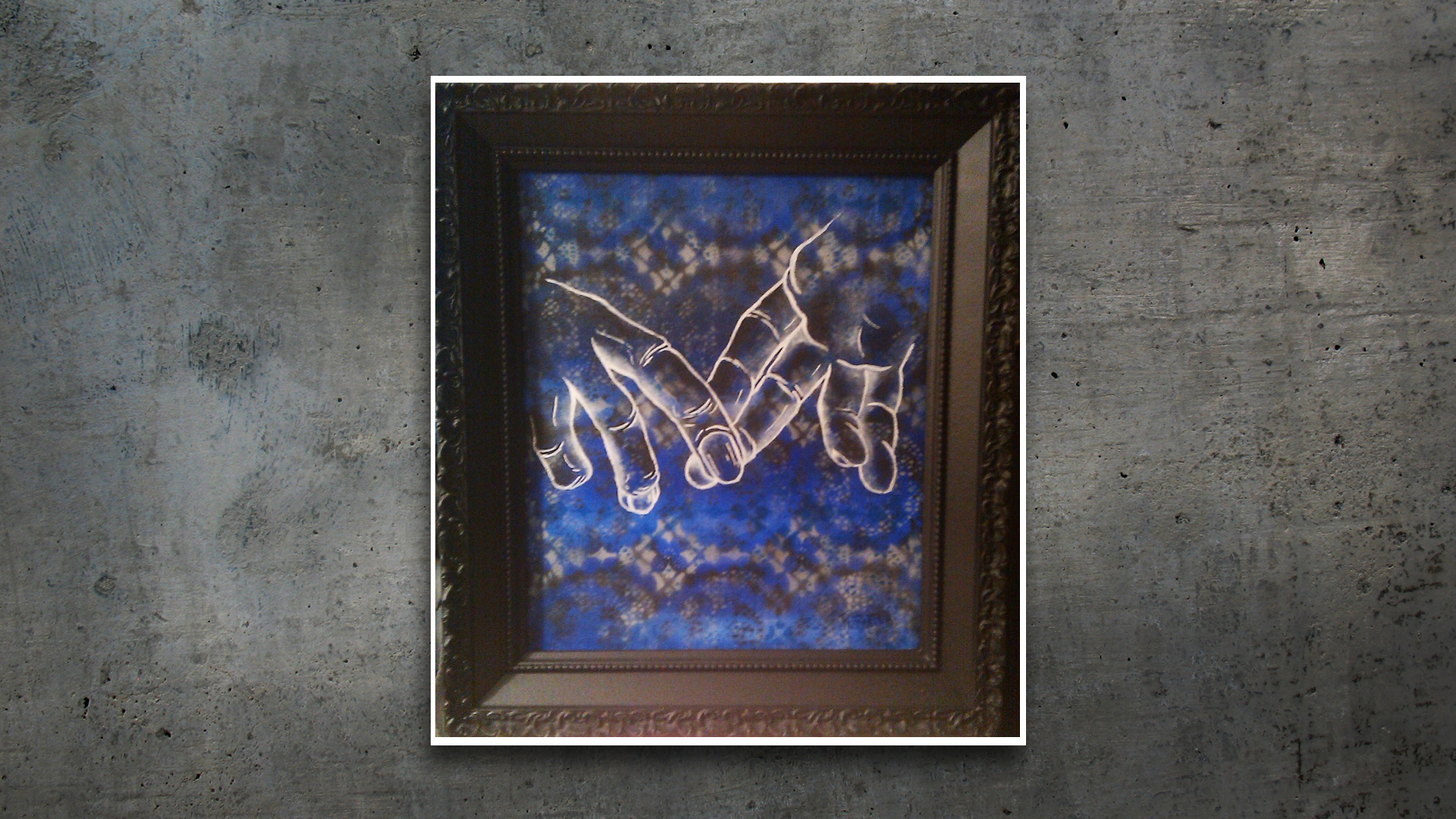 Painting – Hanging On, by a Strong Ass Thread