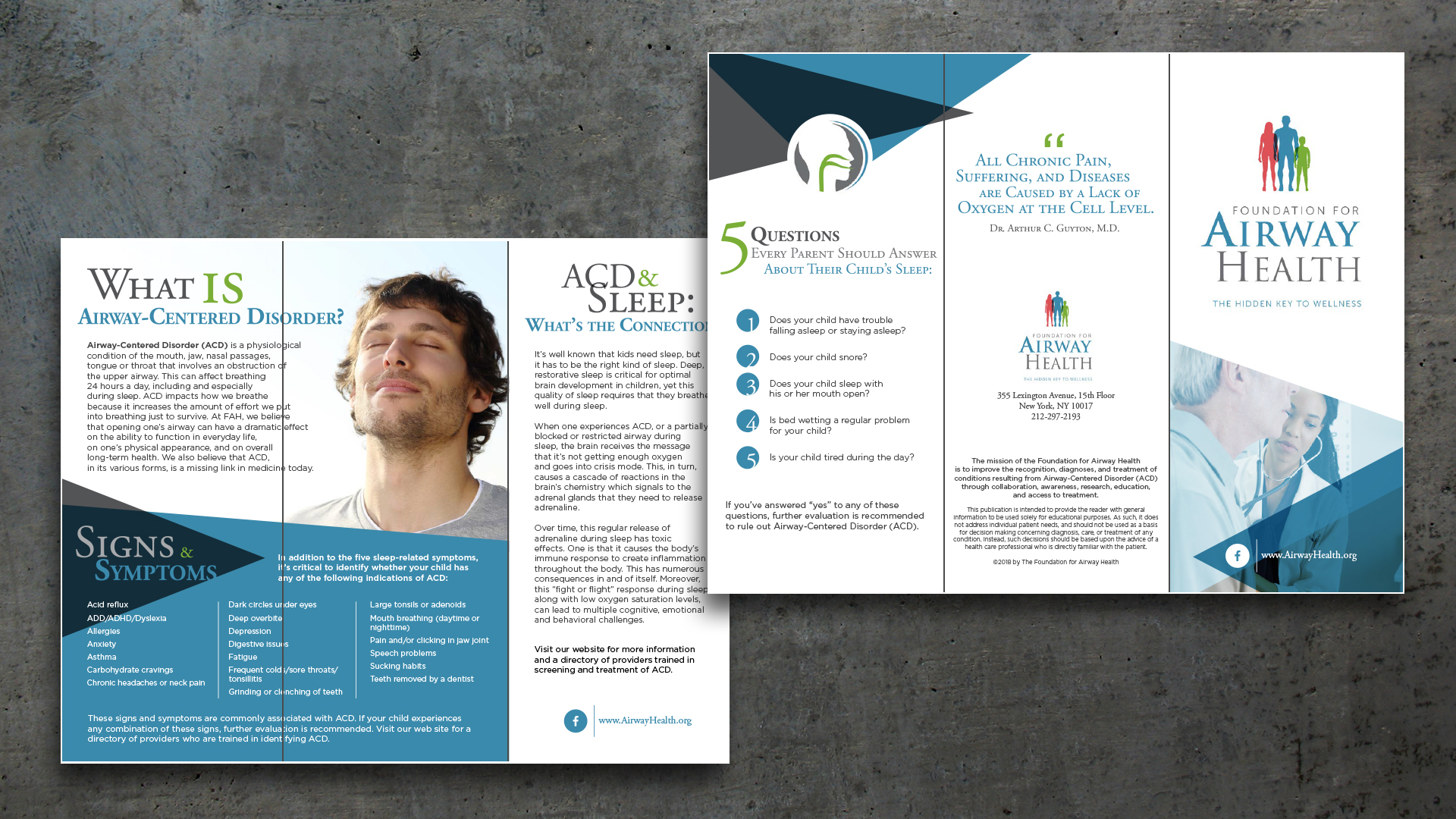 Brochure Design – Foundation for Airway Health