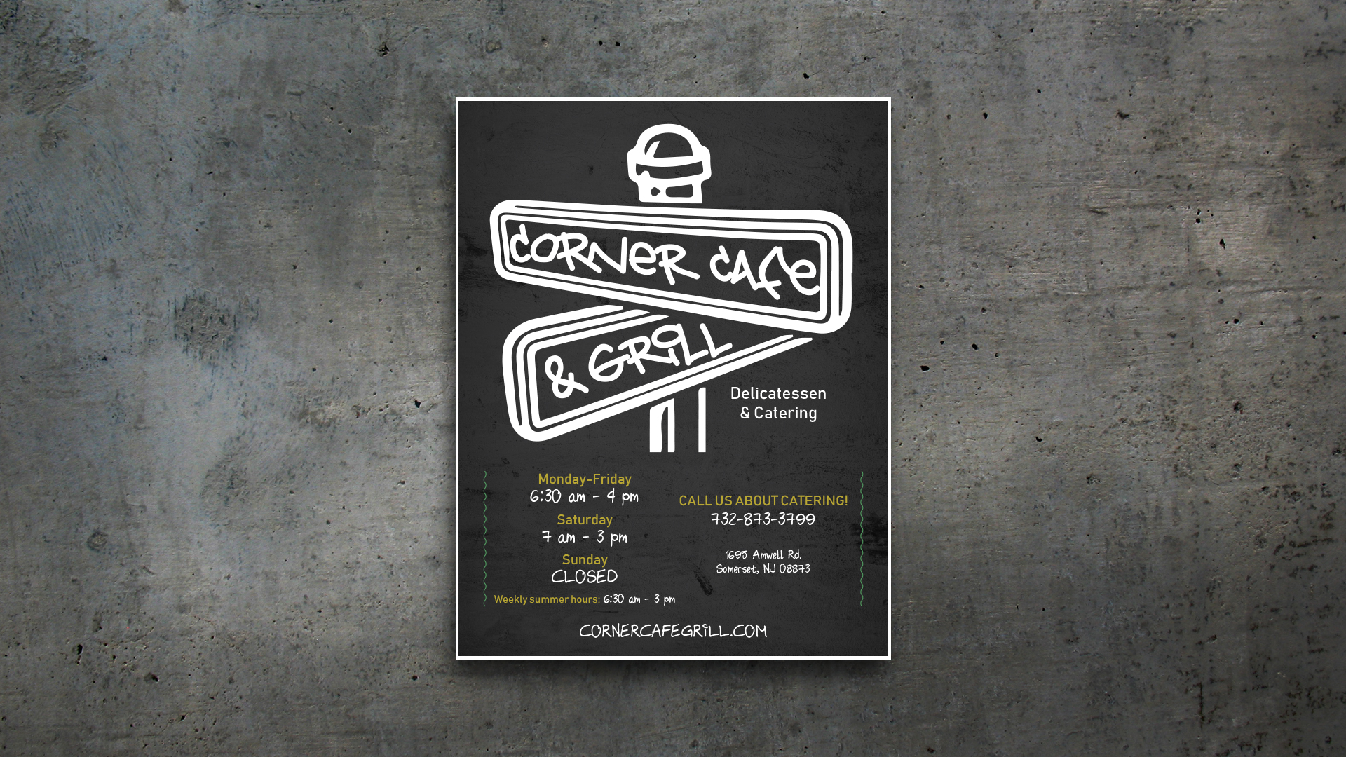 Menu Layout – Corner Cafe & Grill